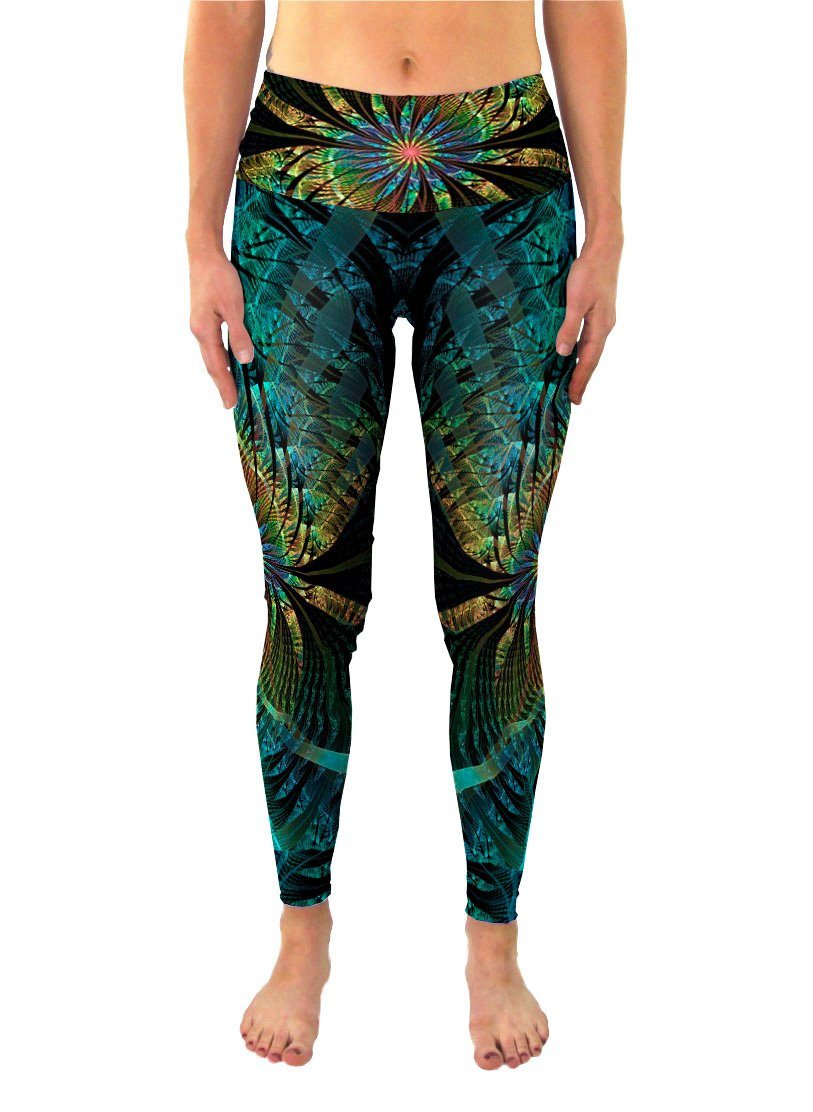 PaonPaon | Leggings | Pants | Yoga | Workout | Gym | Festival | Rave | Outfit | Clothing | High Waisted | Fold Over | Aesthetic | Eco