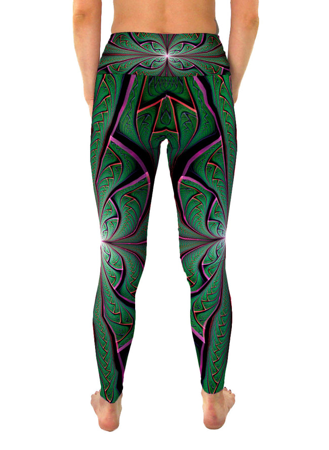 Shamazonia | Leggings | Pants | Yoga | Workout | Gym | Festival | Rave | Outfit | Clothing | High Waisted | Fold Over | Aesthetic | Shaman | Ayahuasca