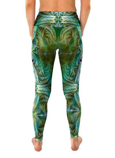 Sinha | Leggings | Pants | Yoga | Workout | Gym | Festival | Rave | Outfit | Clothing | High Waisted | Fold Over | Aesthetic | Shaman