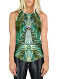 Racerback Tank Top | Yoga | Gym | Workout | Festival | Clothing | Sinha White Tiger
