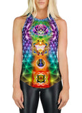 Racerback Tank Top | Yoga | Gym | Workout | Festival | Clothing | Chakras