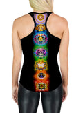 Racerback Tank Top | Yoga | Gym | Workout | Festival | Clothing | Chakras Balance