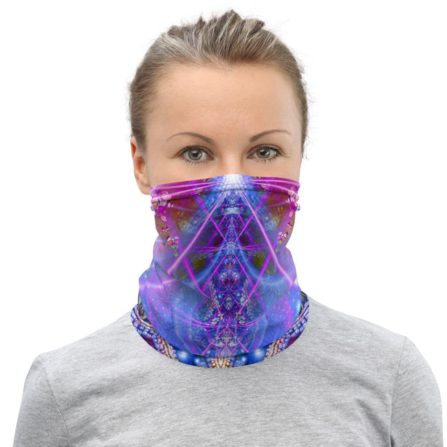 Psychedelic Face Mask | Neck Gaiter | Bandana | Dust Mask | The Gates of Atlantis