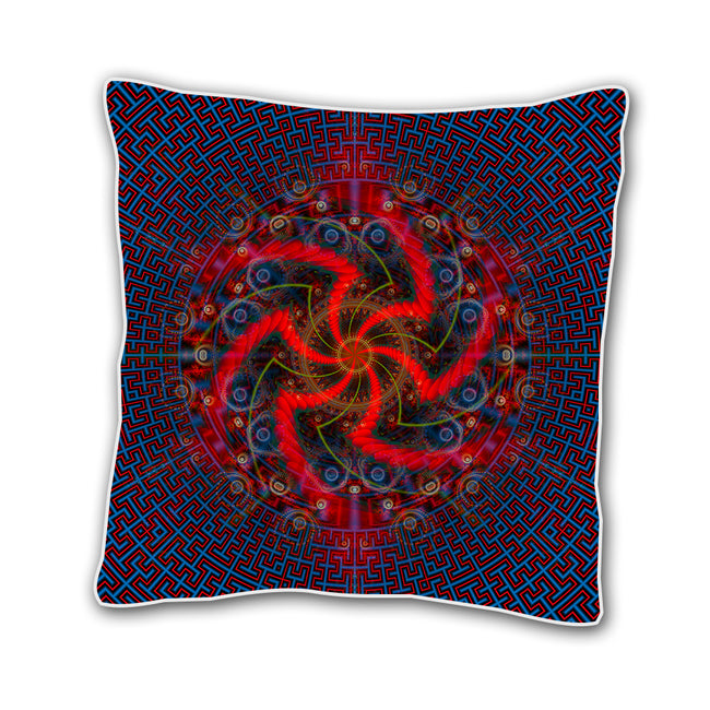 Trippy 18 x 18 In Throw Pillow Cover