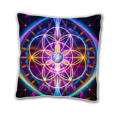 Earth Sacred Geometry Cushion Cover
