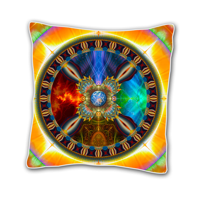 Shamanic Wheel of Life Cushion Cover