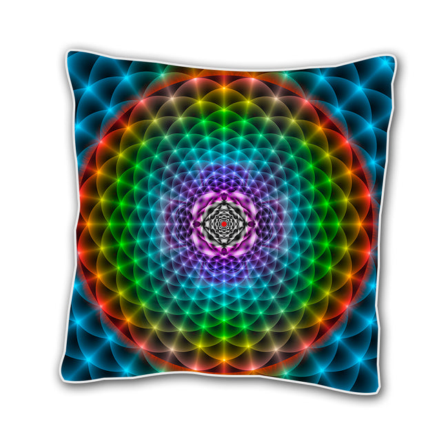 18 x 18 Inch Trippy Throw Pillow Cover