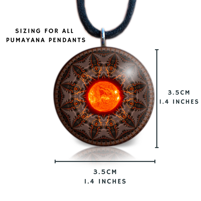 Orgonite Necklace | Gaia Orgone Pendant | Mother Earth | Pachamama