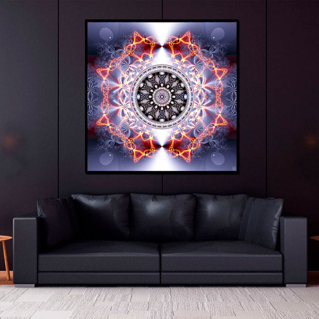 Activated DNA Mandala Art Print | Canvas | Shamanic Art | Meditation | Spiritual | Psychedelic Art | Sacred Geometry | Visionary | Psy | Art