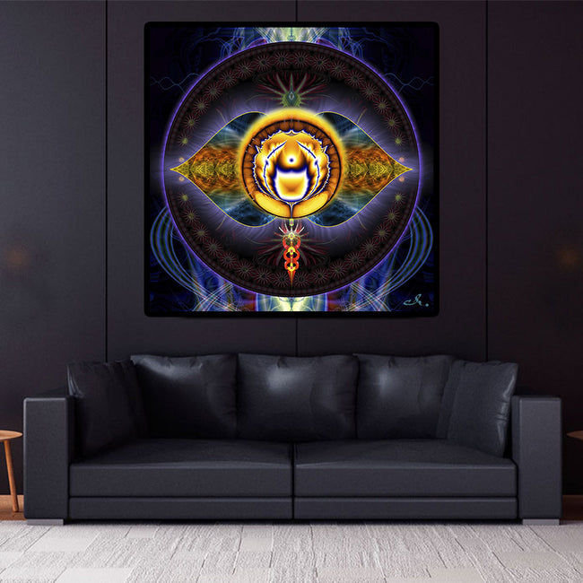 Third Eye Mandala Tapestry | Chakra Art | 6th Chakra Wall Art | Ajna
