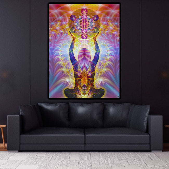 Alchemical Body Art Print | Canvas | Cosmic| Meditation | Spiritual | Visionary | Psy | Sacred Geometry Art