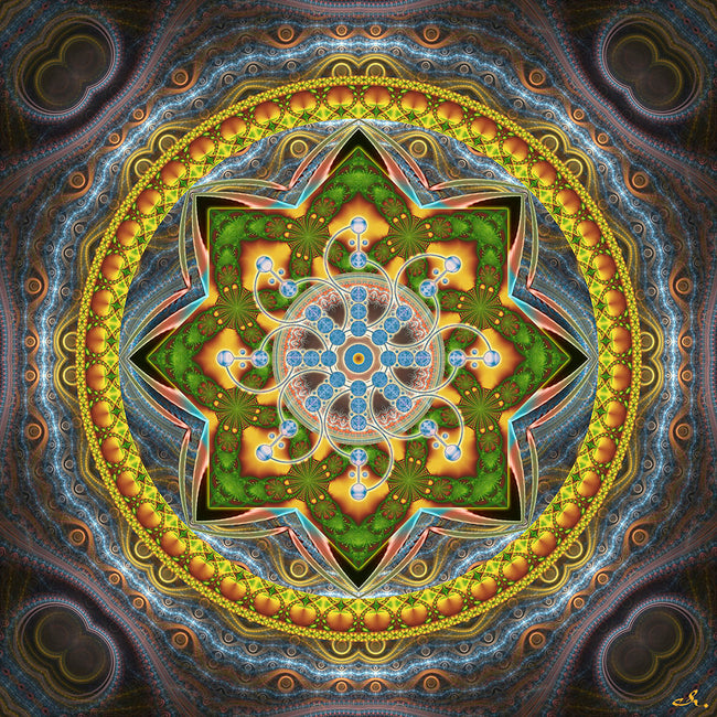 Alpha Centauri Spiritual Art Print | Mandala | Canvas | Sacred Geometry | Flower of Life | Visionary | Art
