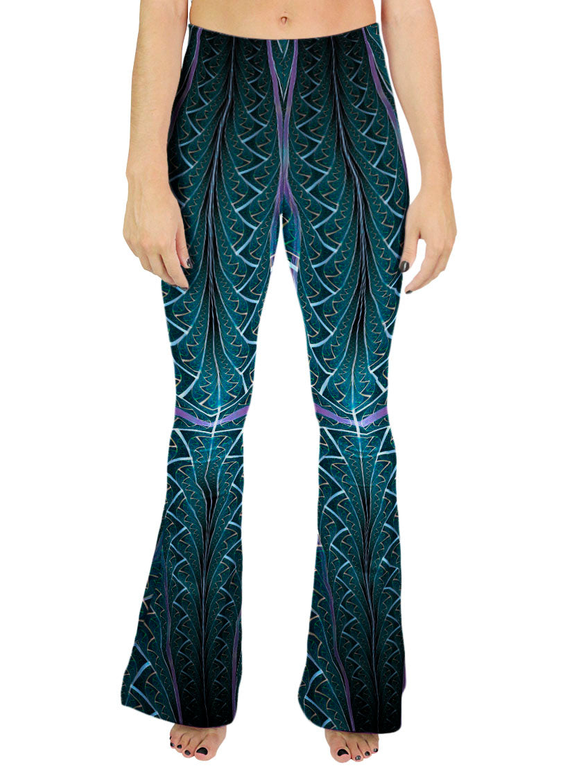 Shamanic Bell Bottom Pants | Women's | Festival Rave | Konibo