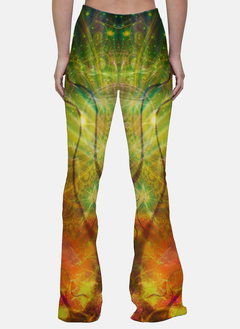 Tree of Life | Bell Bottoms | Womens | Pants | Leggings | Bell Bottom | Festival | Rave | Outfit | Clothing | Sacred Geometry | Flower of Life