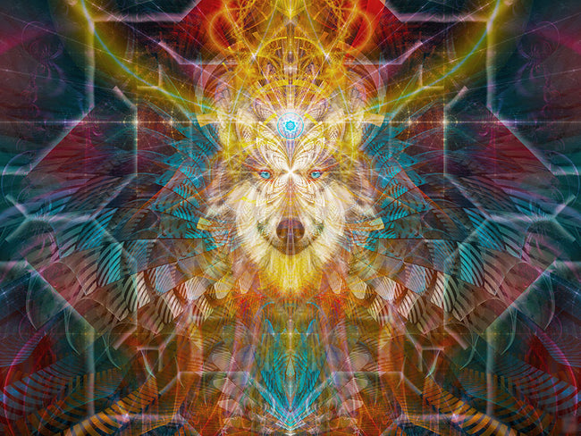 Wolf Tapestry | Wall Hanging | Animal Totem Wall Tapestry | Beauwolf