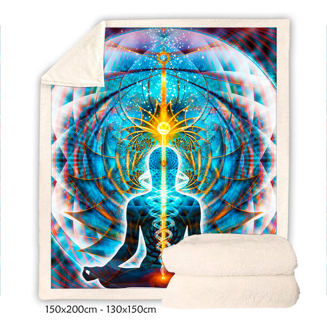 Meditation Fleece Blanket 2