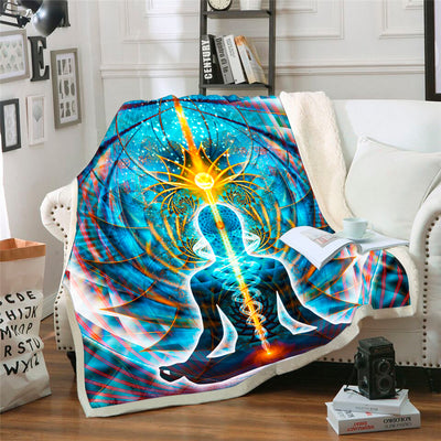 Meditation Fleece Blanket