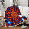Psychedelic Throw Blanket | Trippy Fleece Blanket | Cactivated DNA