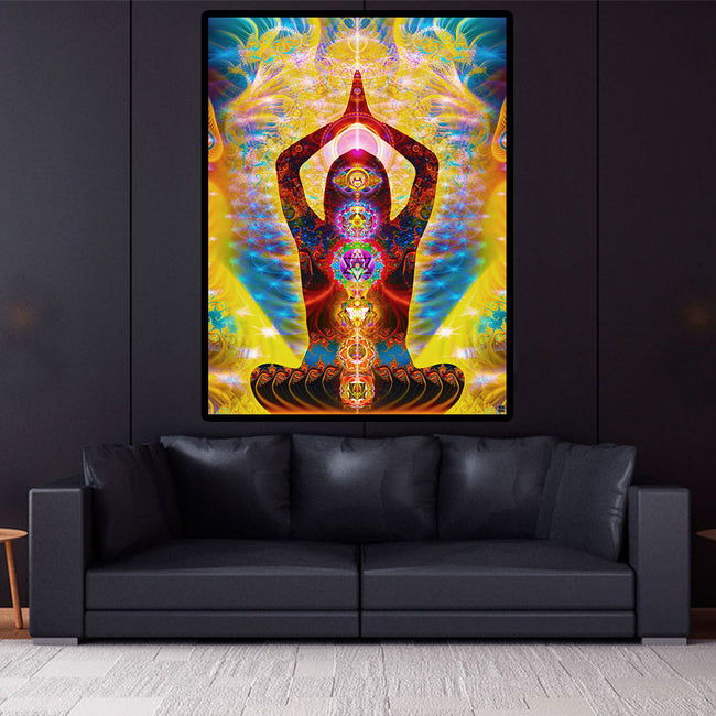 Cosmic Body Poster | Meditation Art Print | Yoga Art | Cosmic Body