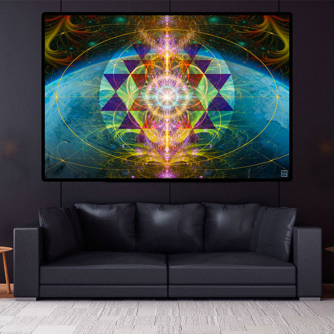 The Cosmic Key Art Print | Canvas| Spiritual| Meditation | Sacred Geometry | Consciousness| Art