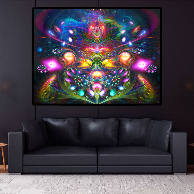 Trippy Psychedelic Tapestry | Wall Hanging | Dimitri the Frog