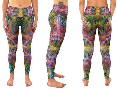 Gaiahuasca | Leggings | Pants | Yoga | Workout | Gym | Festival | Rave | Outfit | Clothing | High Waisted | Fold Over | Aesthetic |