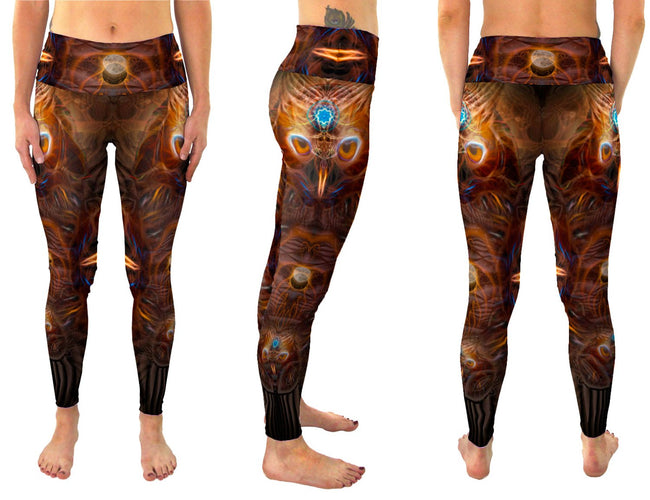 animal totem owl leggings