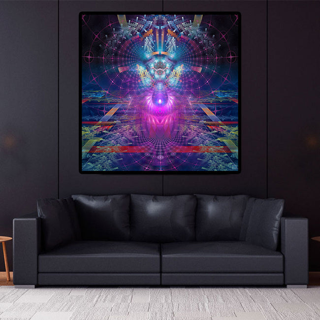 Elios Portal Cosmic Art Print | Canvas | Mandala | Shamanic Art | Meditation | Spiritual | Sacred Geometry | Visionary | Psy | Art