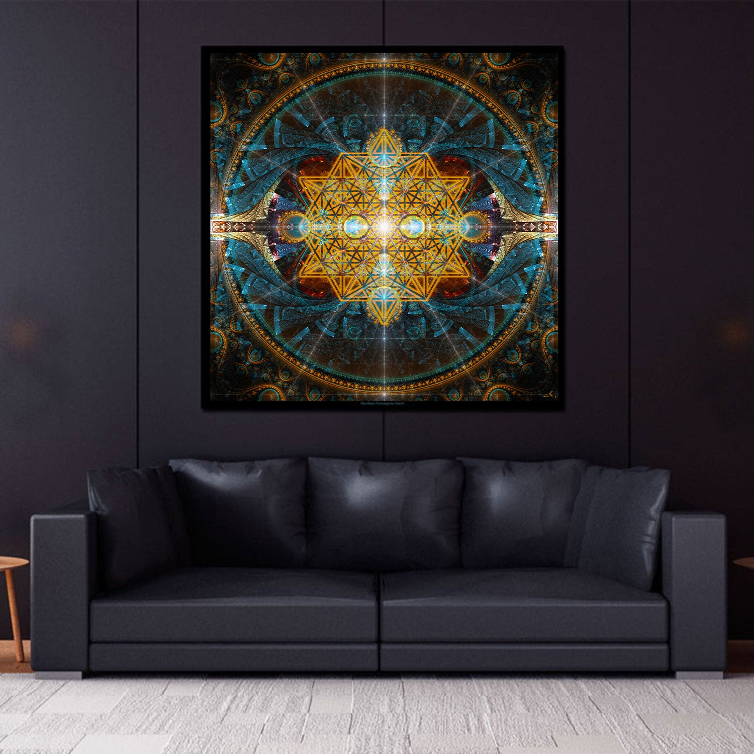 Sacred Geometry Tapestry | Flower of Life Wall Art | Equilibrium