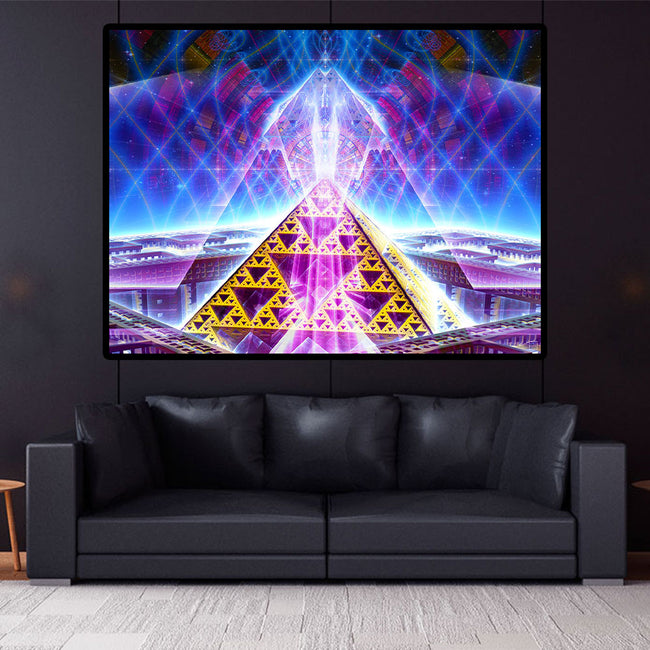 Grid Activation Cosmic Art Print | Canvas | Sacred Geometry| Gaia | Meditation | Spiritual | Earth | Visionary | Psy | Art