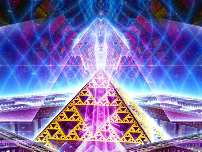 Pyramid Tapestry | Sierpinski Triangle Fractal Wall Art | Grid Activation