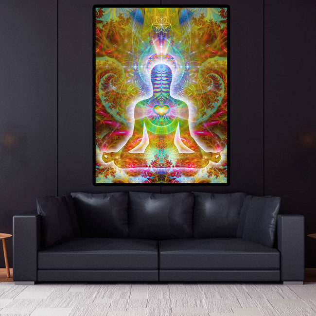 Meditation Wall Art | Spiritual Tapestry | Love | HeartSoul Cosmic Body