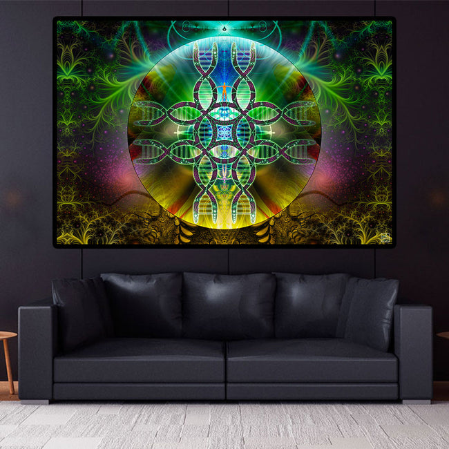 Visionary Art Tapestry | Spiritual Wall Art | Meditation | Human Alchemy