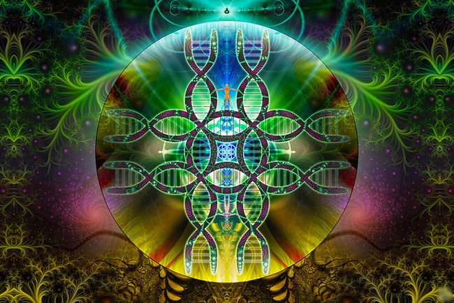 Human Alchemy Art Print | Canvas| Spiritual| Meditation | Visionary | Healing | Consciousness| DNA| Art