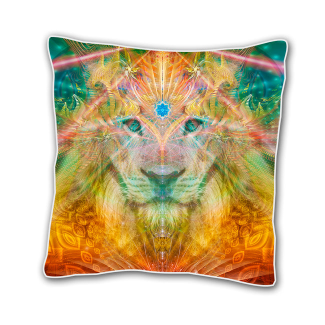 Lion Cushion cover | 18 x 18 Throw Pillow Cover | Handmade | Atlan