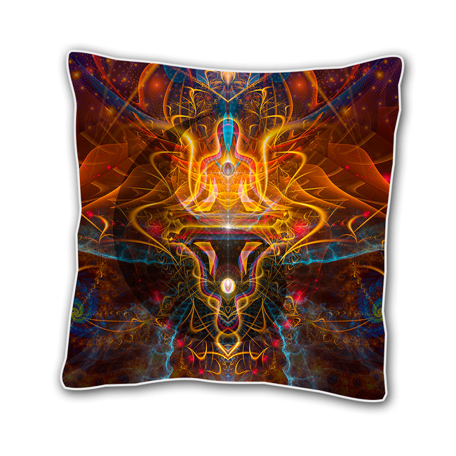 Shamanic Cushion cover | 18 x 18 Throw Pillow Cover | Handmade | Ombre et Lumiere