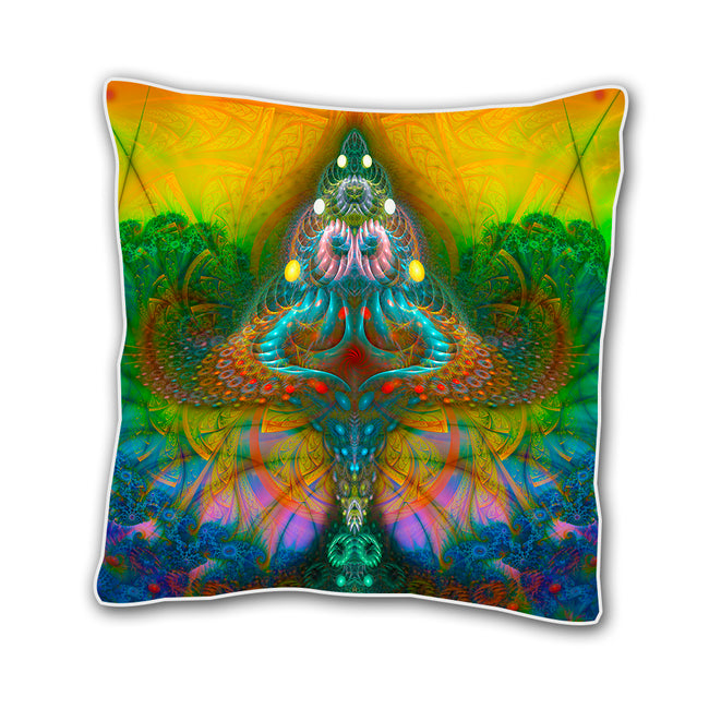 Shamanic Cushion cover | 18 x 18 Throw Pillow Cover | Handmade | Shroom
