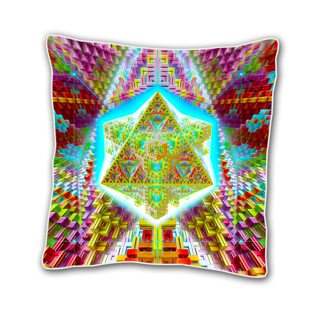 Psychedelic Cushion cover | 18 x 18 Throw Pillow Cover | Handmade | Traveling the Multiverse
