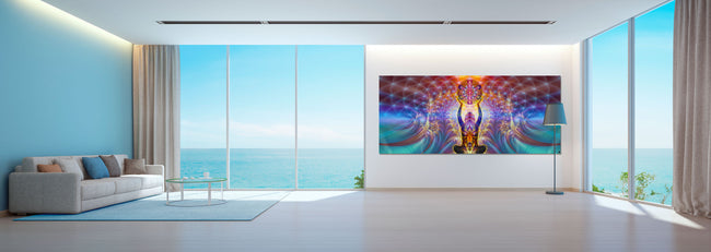 Noces Alchimiques Art Print | Canvas | Gaia | Meditation | Spiritual | Earth | Visionary | Psy | Chakra Art
