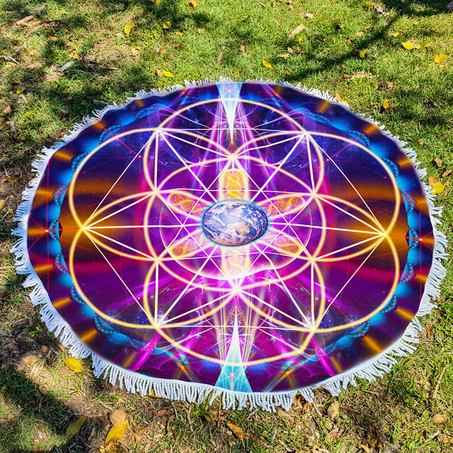 Sacred Geometry Beach Blanket