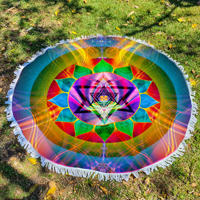 Large Round Beach Blanket
