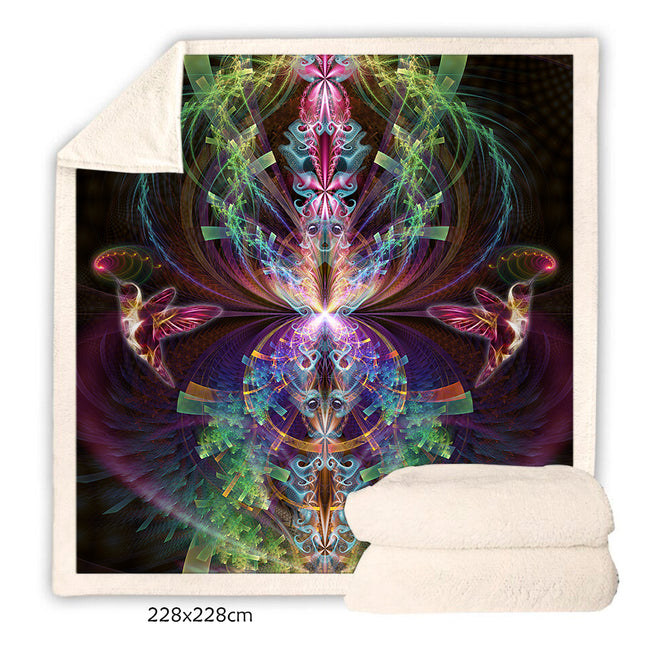 Psychedelic Fleece Blanket | Trippy Sherpa Blanket | I See You