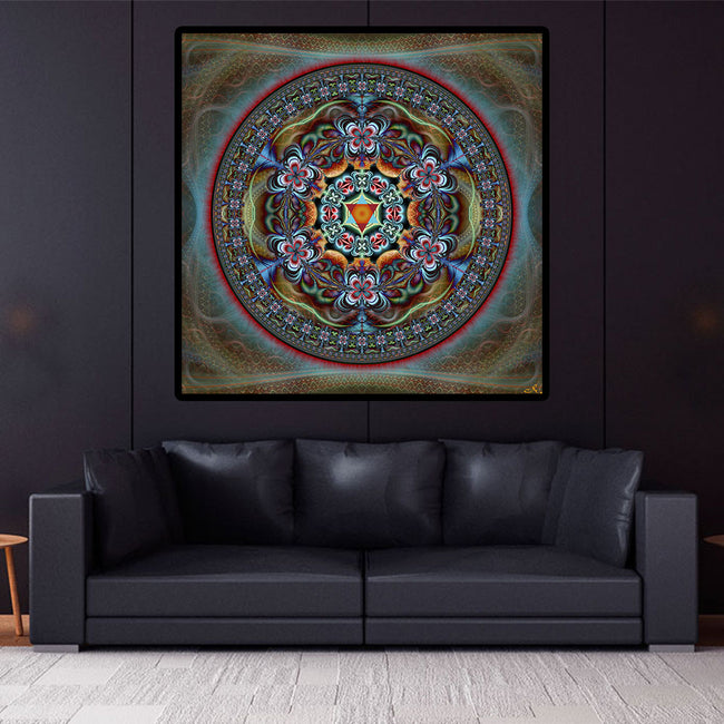Ipomea Mandala Art Print | Poster | Shamanic | Spiritual | Psychedelic | Sacred Geometry | Visionary | Psy | Art