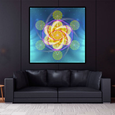 Sacred Geometry Wall Tapestry | Spiritual Wall Art | Light Activation