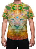 Atlan The King | Mens T-Shirt | Clothing | Lion | Spiritual | Aesthetic | Yoga | Festival | Meditation | Gift | For Him | Animal Totem