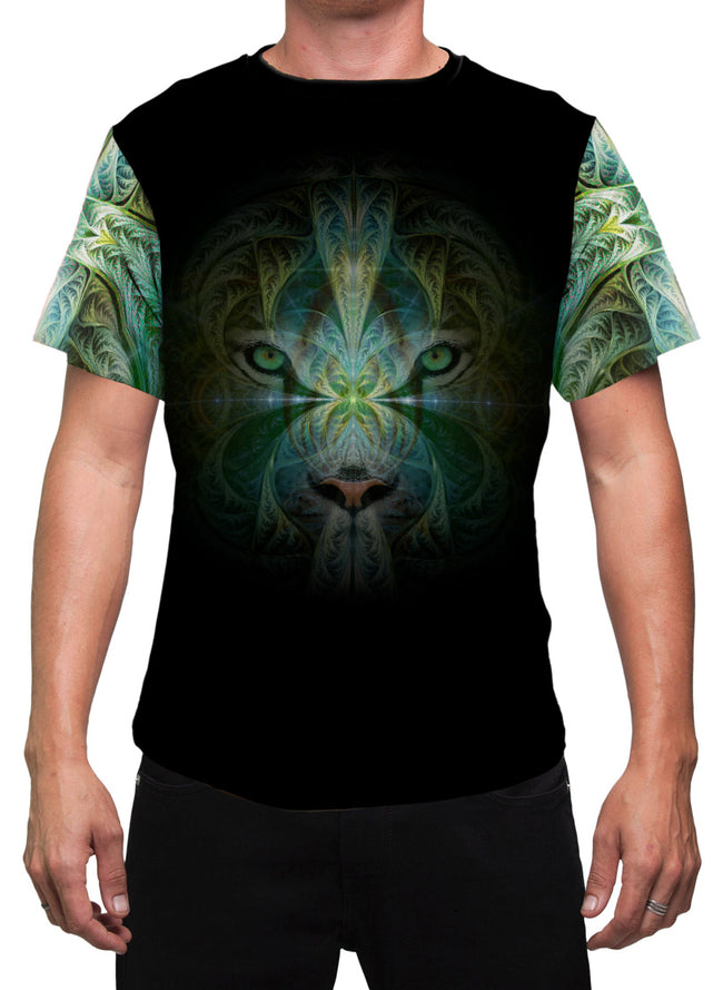 Sinha Spirit | Mens T-Shirt | Clothing | Animal | Spiritual | Aesthetic | Yoga | Festival | Meditation | Shaman | Tiger