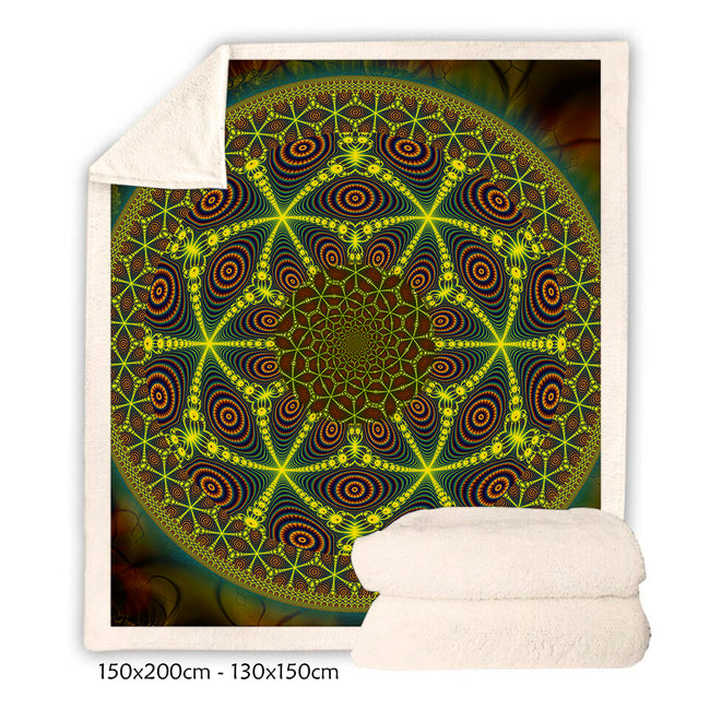 Psychedelic Throw Blanket | Trippy Sherpa Blanket | Mesca