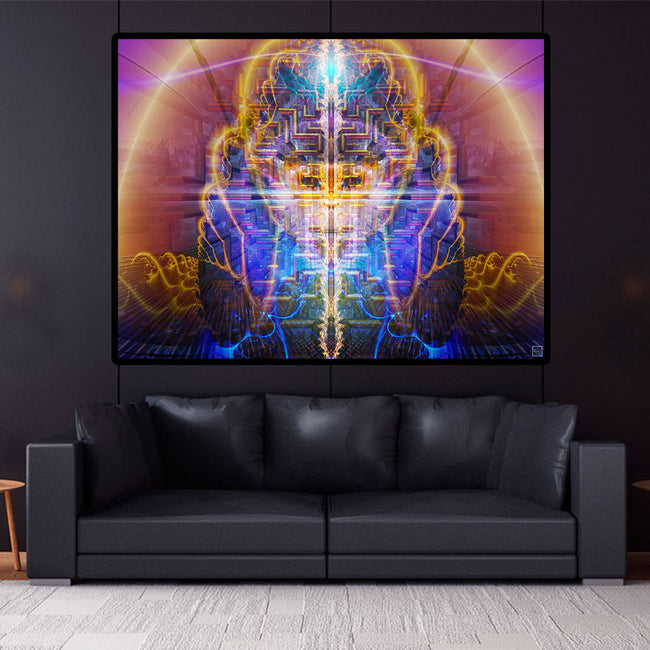 Cosmic Wall Hanging | Trippy Tapestry | Meditation | Monkey Mind