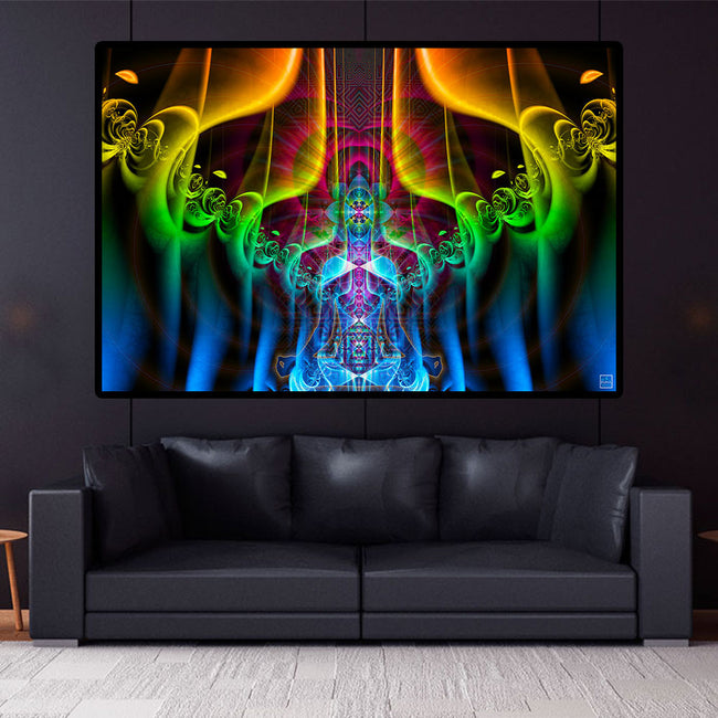 Meditation Room Tapestry | Spiritual Wall Hanging | Multiverse