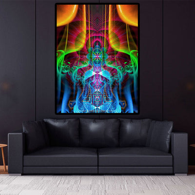 Meditation Room | Spiritual Wall Hanging | Multiverse Cosmic Body